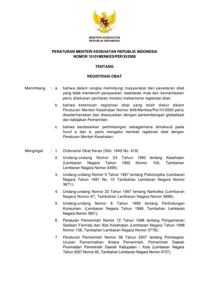 MENTERI KESEHATAN                                  REPUBLIK INDONESIA               PERATURAN MENTERI KESEHATAN REPUBLIK I...
