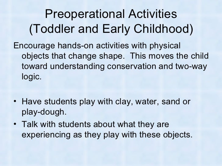 piaget in the toddler classroom essay Piaget in the toddler classroom essay 2975 words | 12 pages piaget in the toddler classroom jessica moshier ece332: child development dr jessica alvarado february 18, 2013 piaget in the toddler classroom there are a lot of things to consider when designing the layout of a toddler classroom.