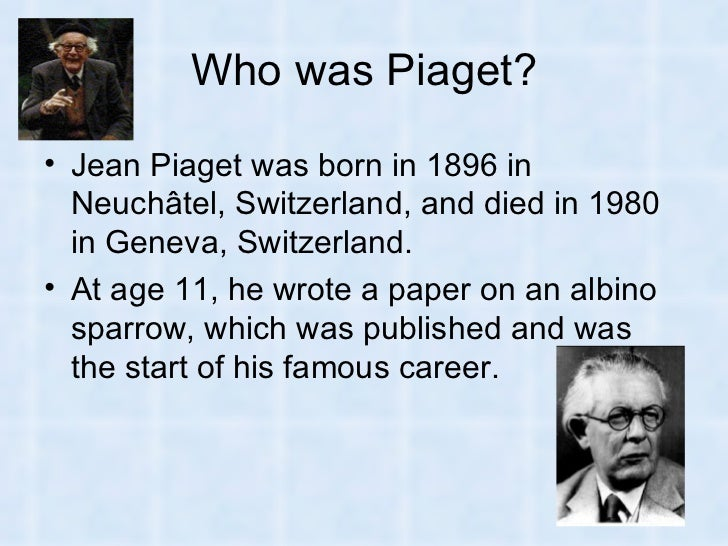 the theories of jean piaget essay
