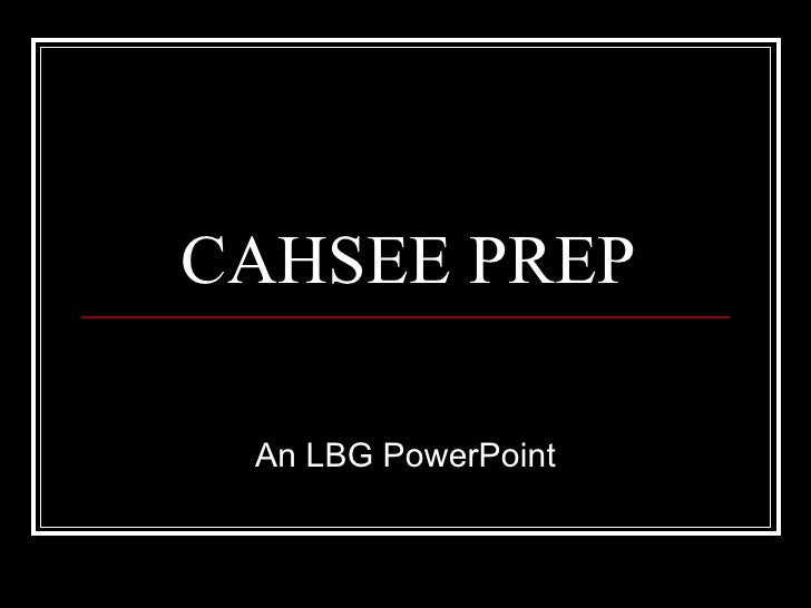 Preparing For The Cahsee   Punctuation