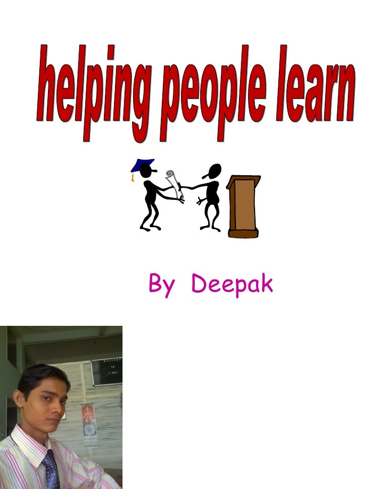 HELPING PEOPLE TO LEARN