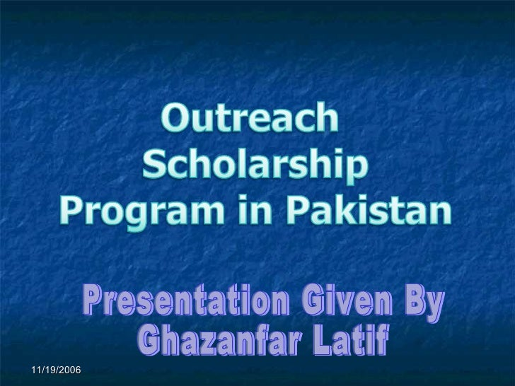 Presentation Given By Ghazanfar Latif 11/19/2006
