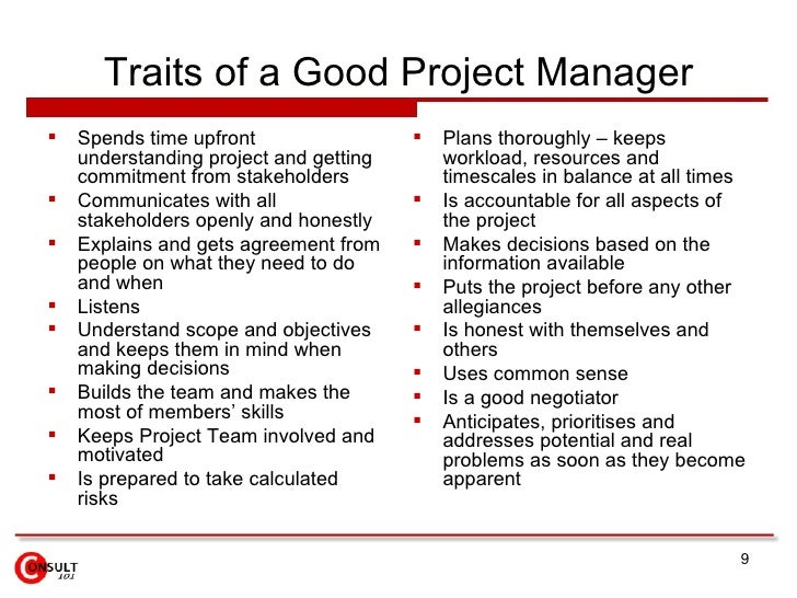 What attributes make a good successful manager?