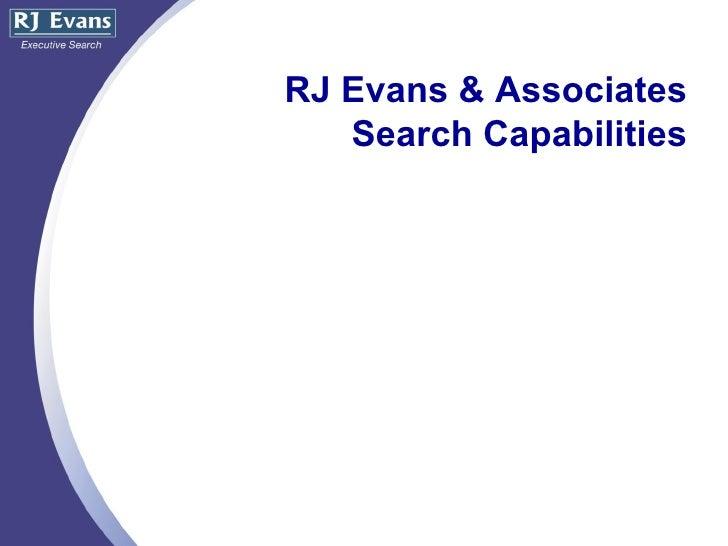 RJ Evans & Associates Search Capabilities