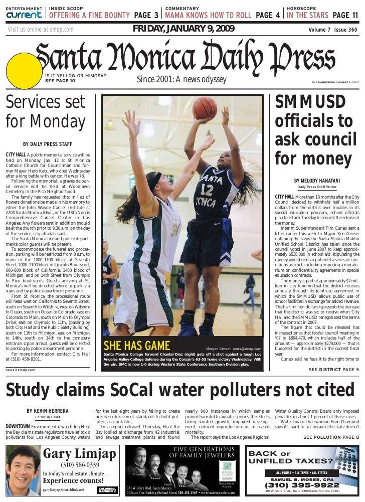 Santa Monica Daily Press Jan 9 08