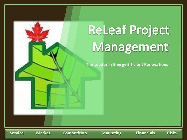 Re Leaf Project Management Business Plan Presentation
