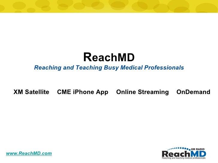 Reach MD Cme Update February 2009