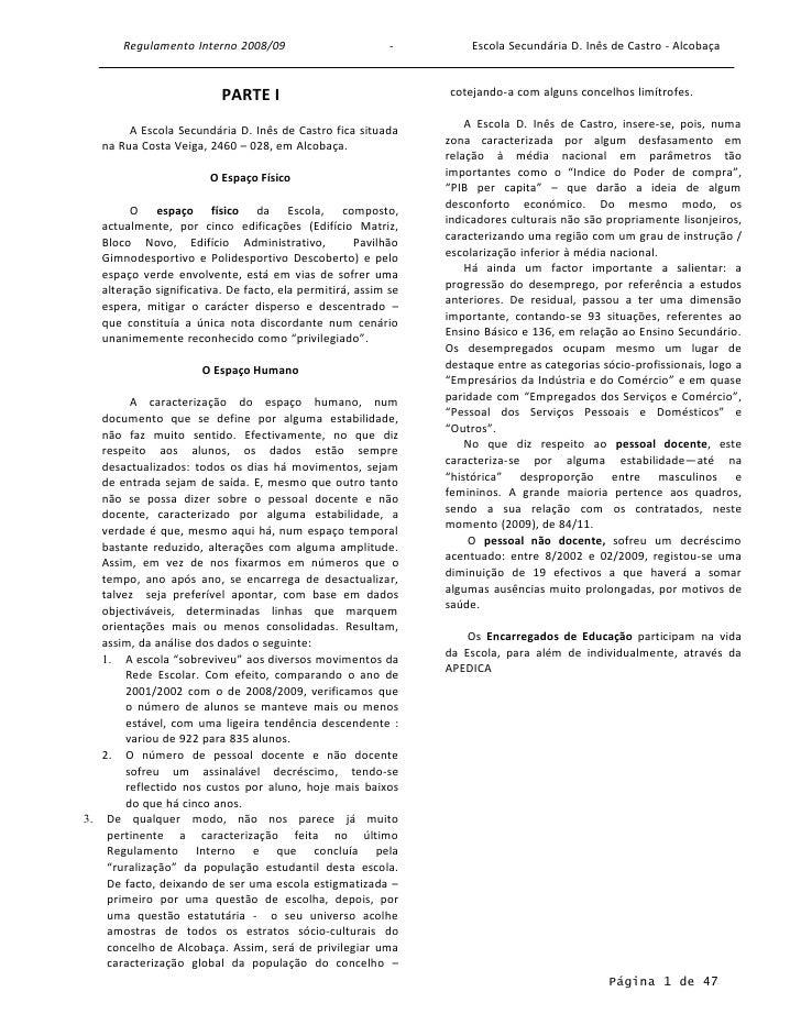 Regulamento Interno 2008-2009