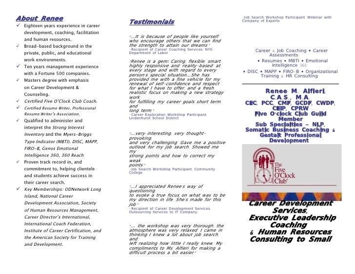 About Renee                                                                               -Job Search Workshop Participant...