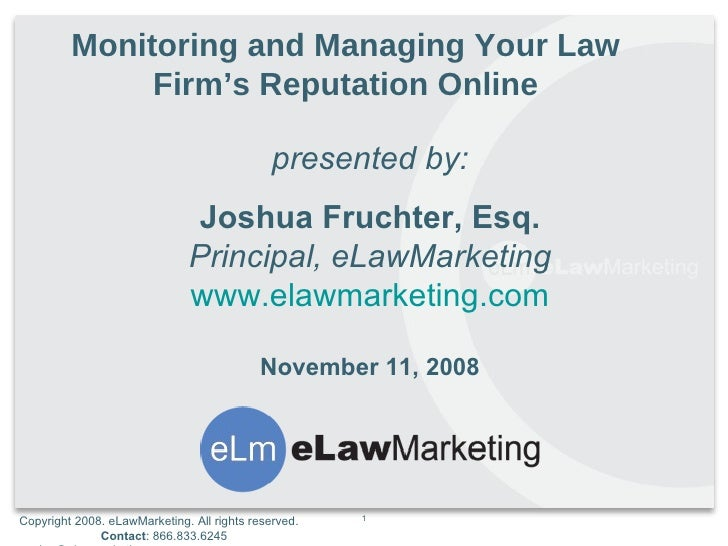 Online Reputation for Law Firms