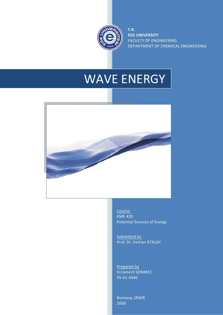 Research Report - Wave Energy