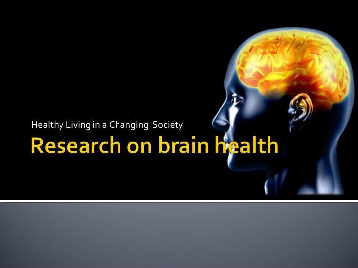 Research On Brain Health