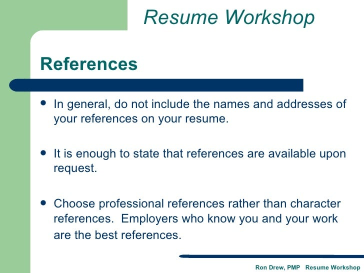 where do you put your references on a resume - Paso.evolist.co