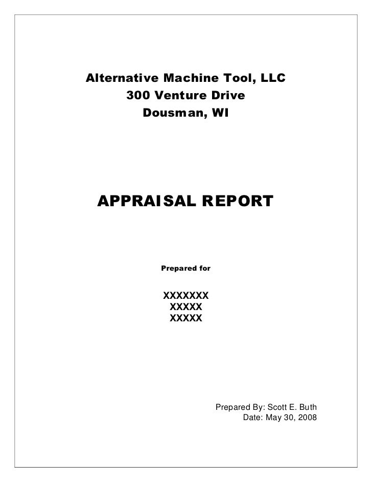 Sample Machinery Appraisal