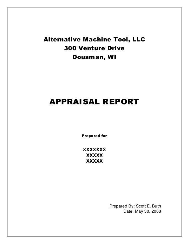 Sample Machinery Appraisal