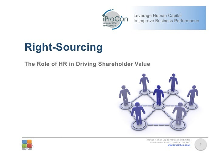 Right Sourcing: The Role of HR in Creating Shareholder Value