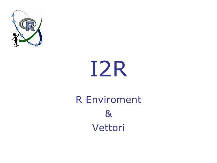 R Vectors