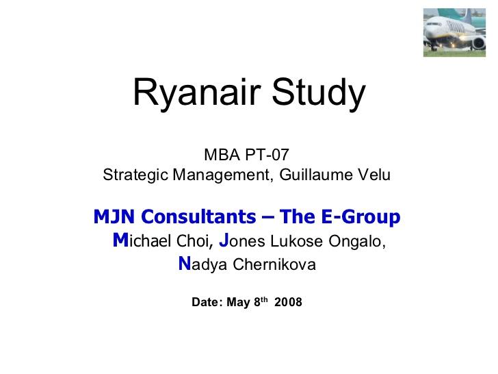 Ryanair Case Study Harvard pdf