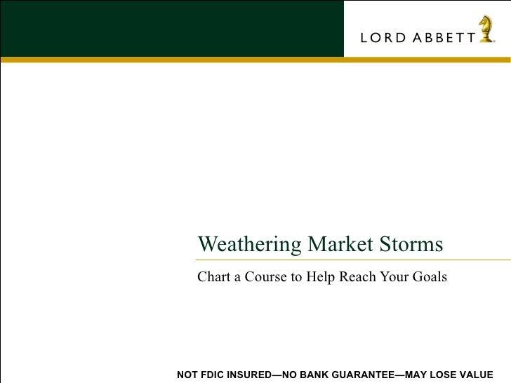Weathering Market Storms
