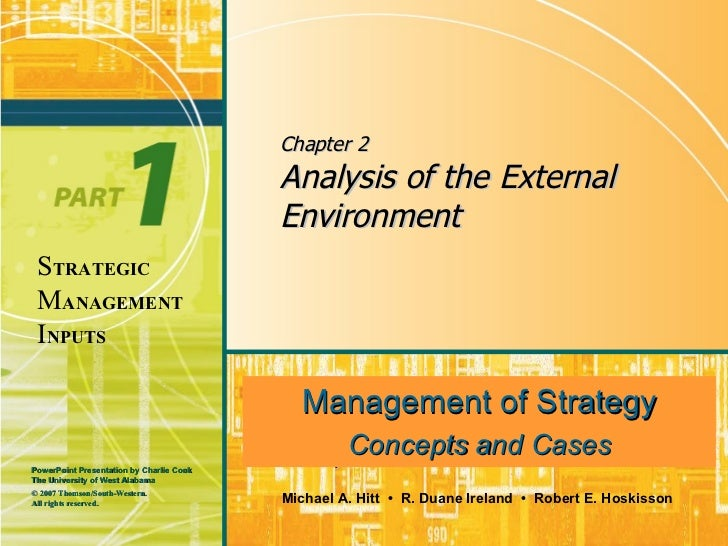 Chapter 2 Analysis of the External Environment Management of Strategy Concepts and Cases