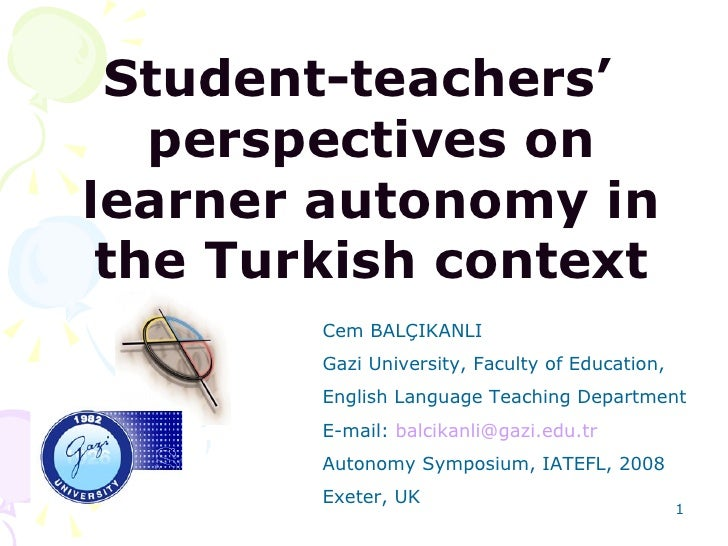 teacher personal autonomy dissertation In which they do not trust us with autonomy in our education or personal well-being  the benefits of student autonomy our thesis:.