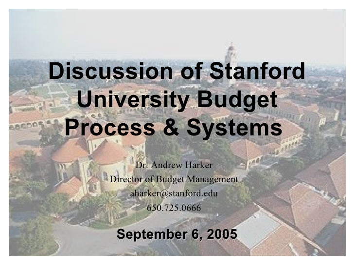 SU Budget Process And Systems Presentation