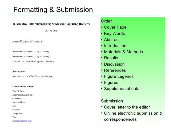 scientific research paper title