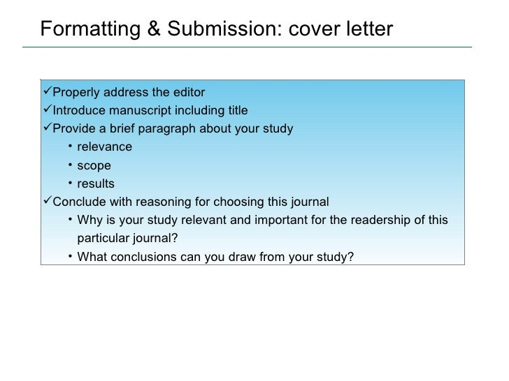 cover letter scientific writing