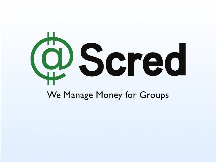 We Manage Money for Groups