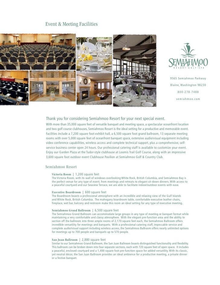 Semiahmoo Sales Kit