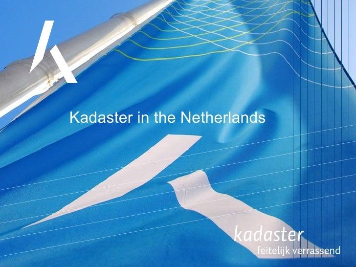 Kadaster Corporate Presentation