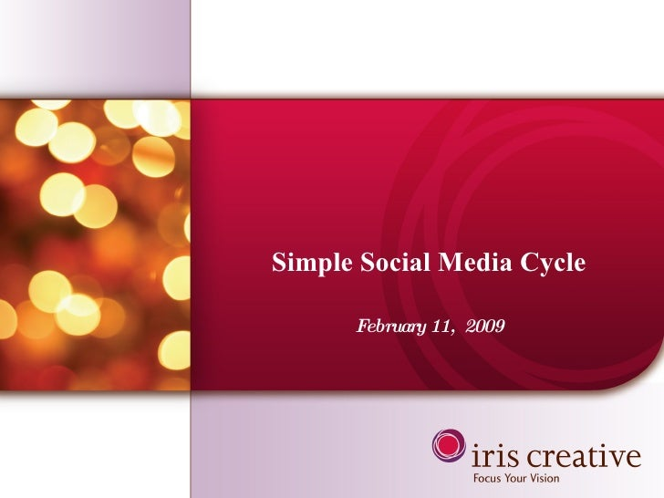 Simple Social Media Cycle February 11,  2009
