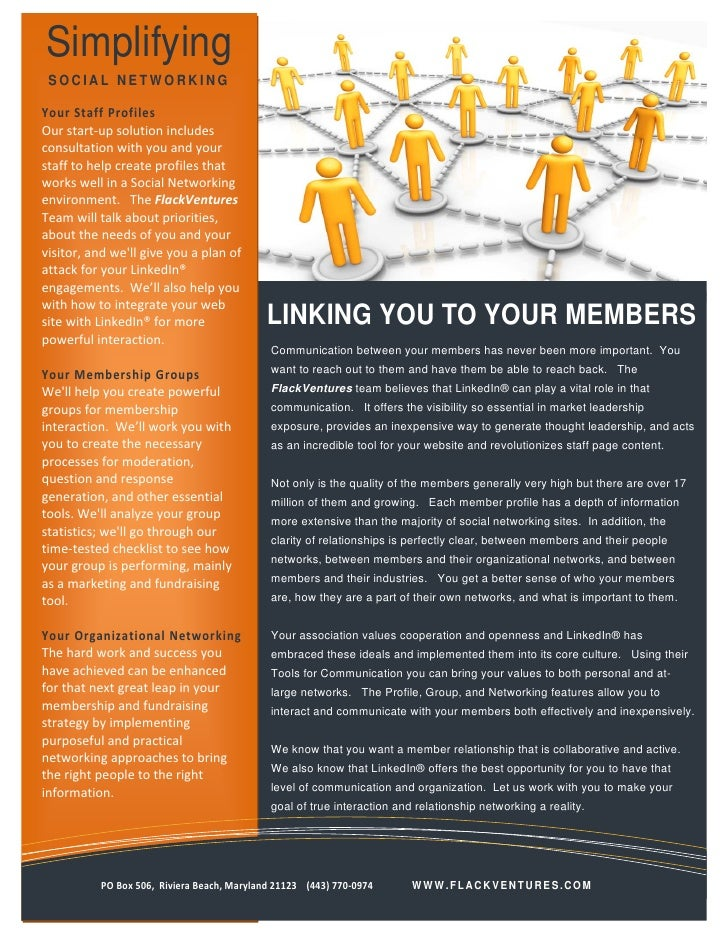 Social Networking   Linking You To Your Members