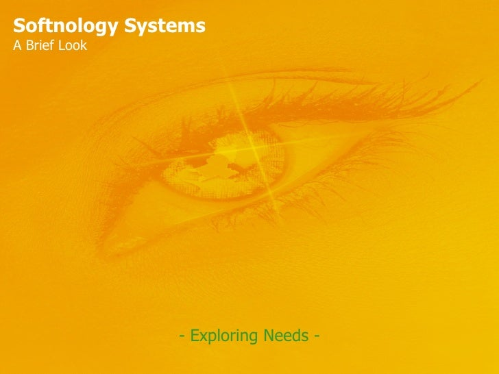 Softnology Systems A Brief Look - Exploring Needs -