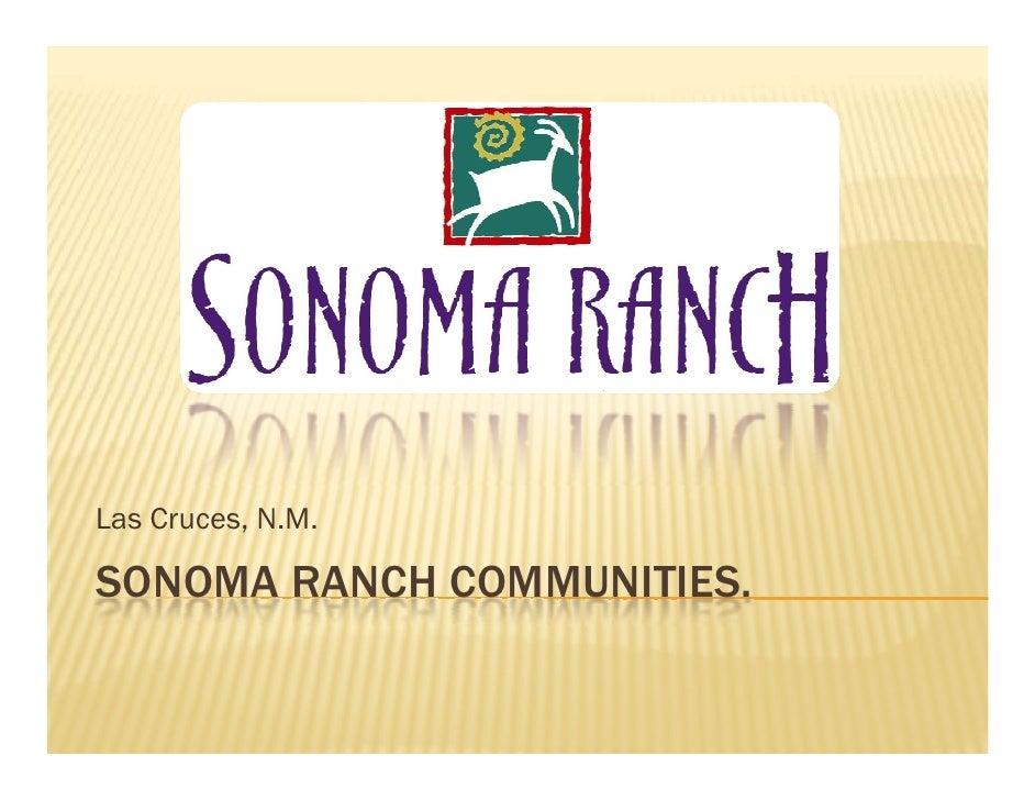 Las Cruces, N.M.  SONOMA RANCH COMMUNITIES.