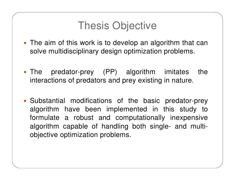 Objectives of a phd thesis
