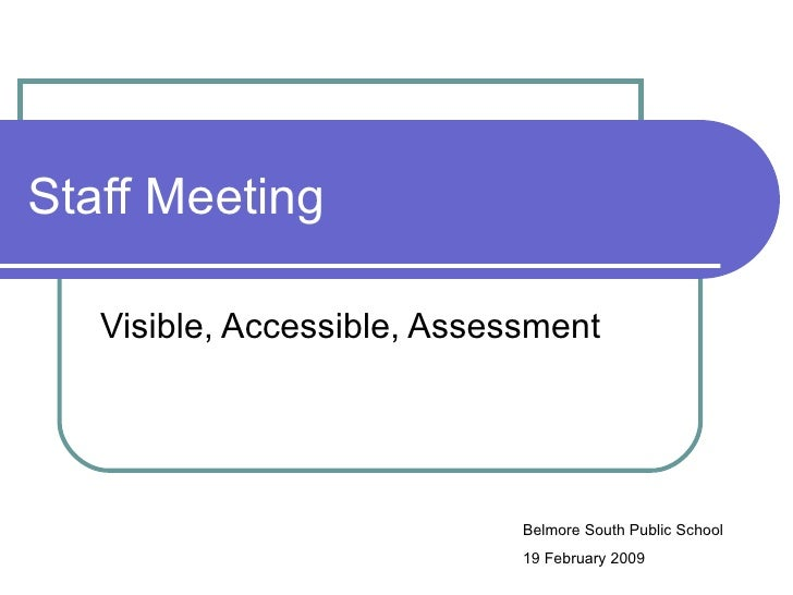 Assessment,accessible,visible