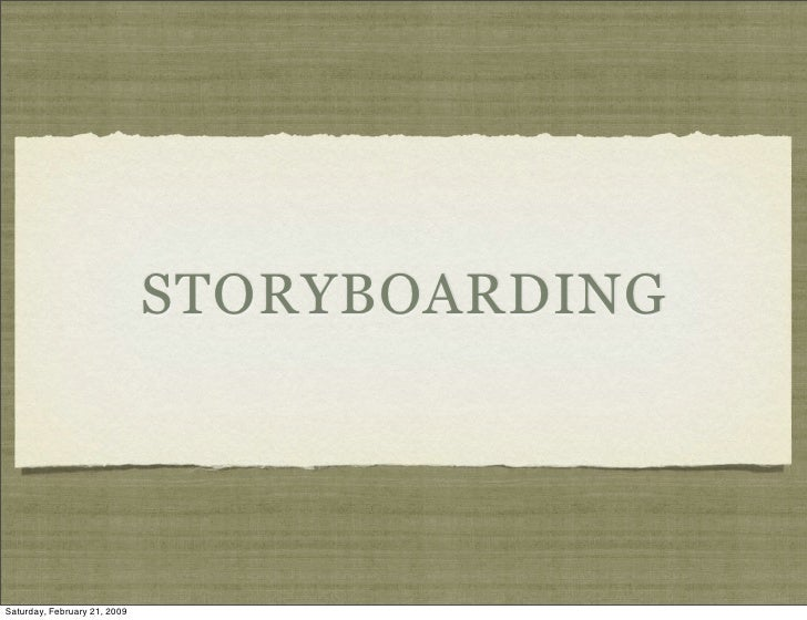 Storyboard And Photography