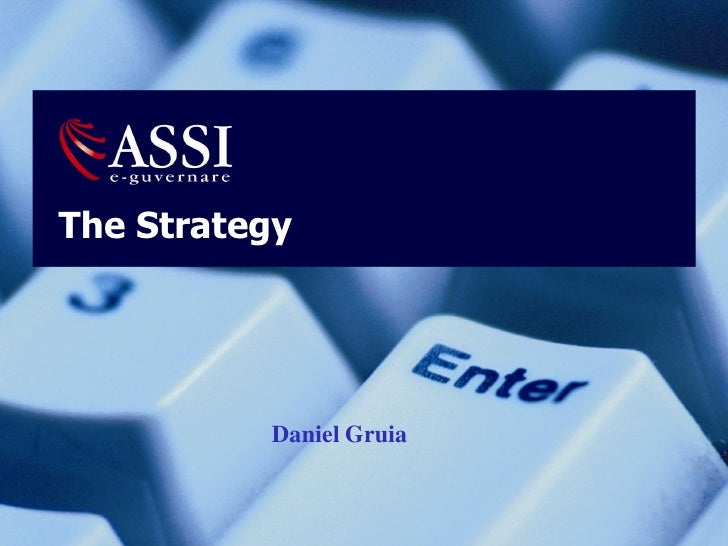 Strategy Of eGovernment Institution