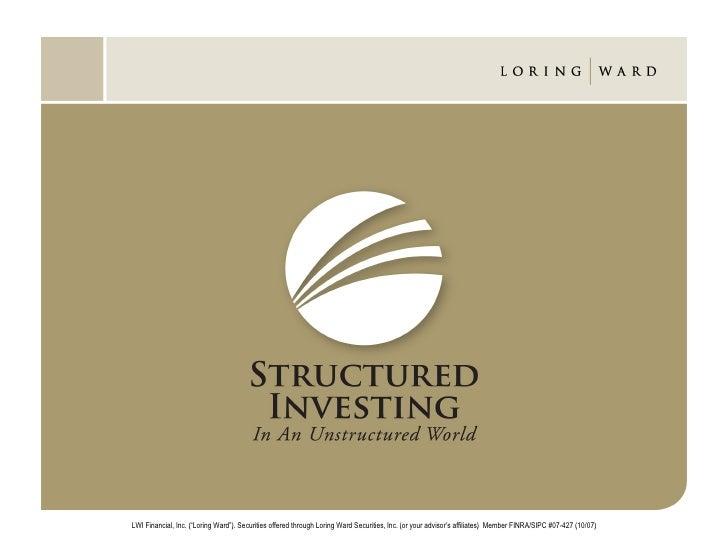 "LWI Financial, Inc. (""Loring Ward""). Securities offered through Loring Ward Securities, Inc. (or your advisor's affiliates..."