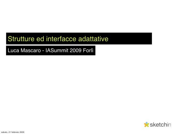 Strutture e interfacce adattative