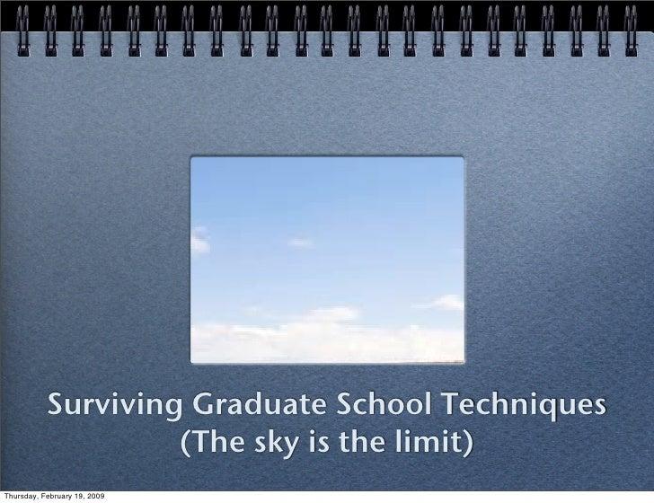 Surving Graduate School