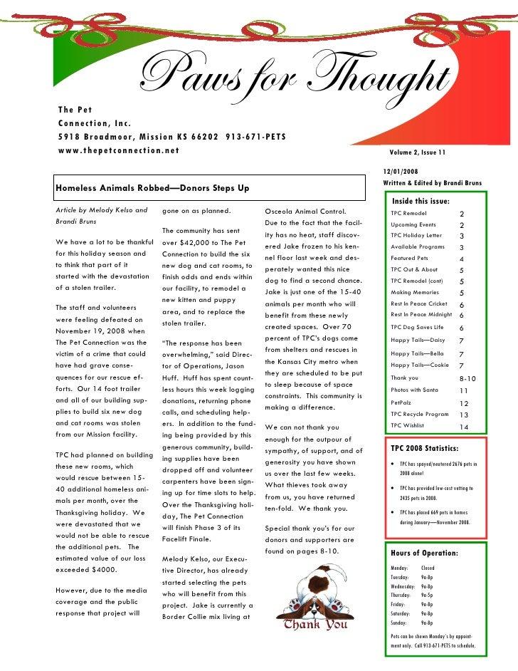 TPC December 08 Newsletter