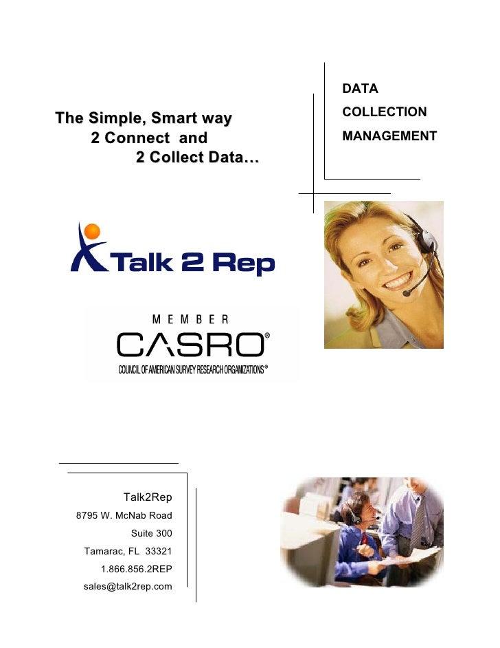 Talk2 Rep Data Collection Services V13
