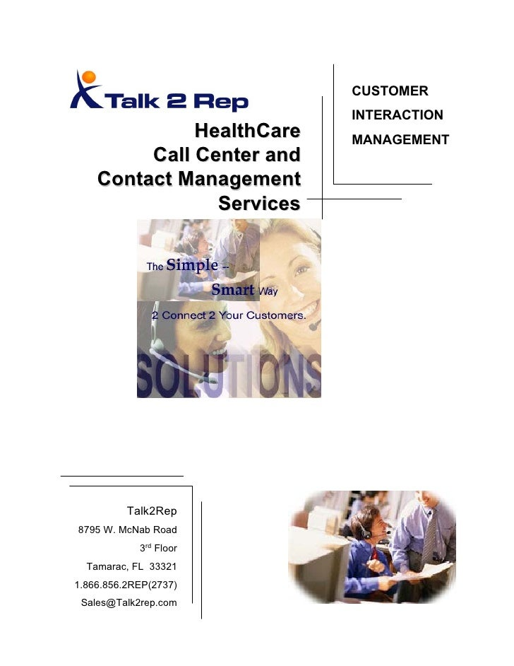 Talk2 Rep Healthcare Call Center Services V1122