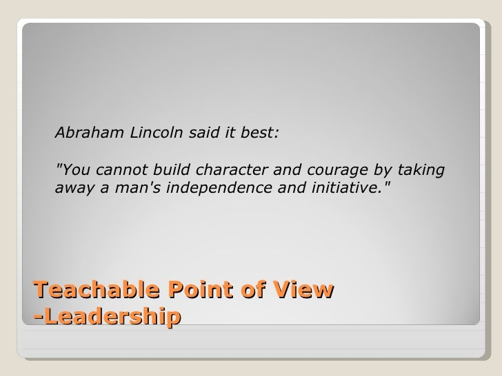 leadership pov Posted by schymboryk in conflict, leadership, success, team building, teammates, teams, teamwork on 02/24/2013 photo credit: matthew albanese at some point in your team experience you realize that the honeymoon is over.