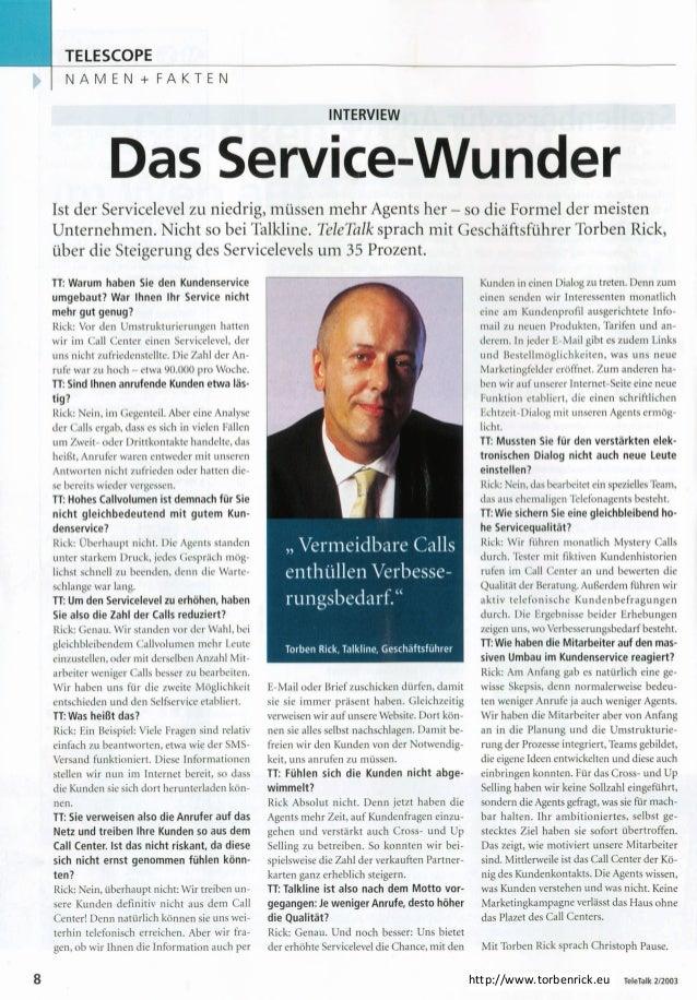 Das Service-Wunder - Tele Talk