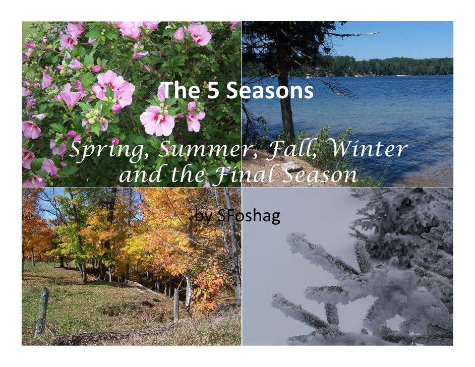 The 5 Seasons  Spring, Summer, Fall, Winter     and the Final Season           by SFoshag