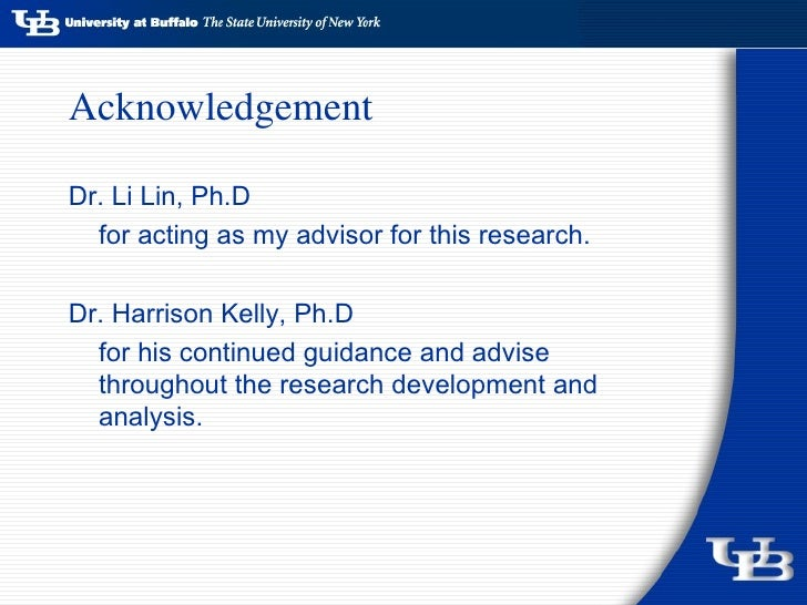 Phd Thesis Dissertation Acknowledgement