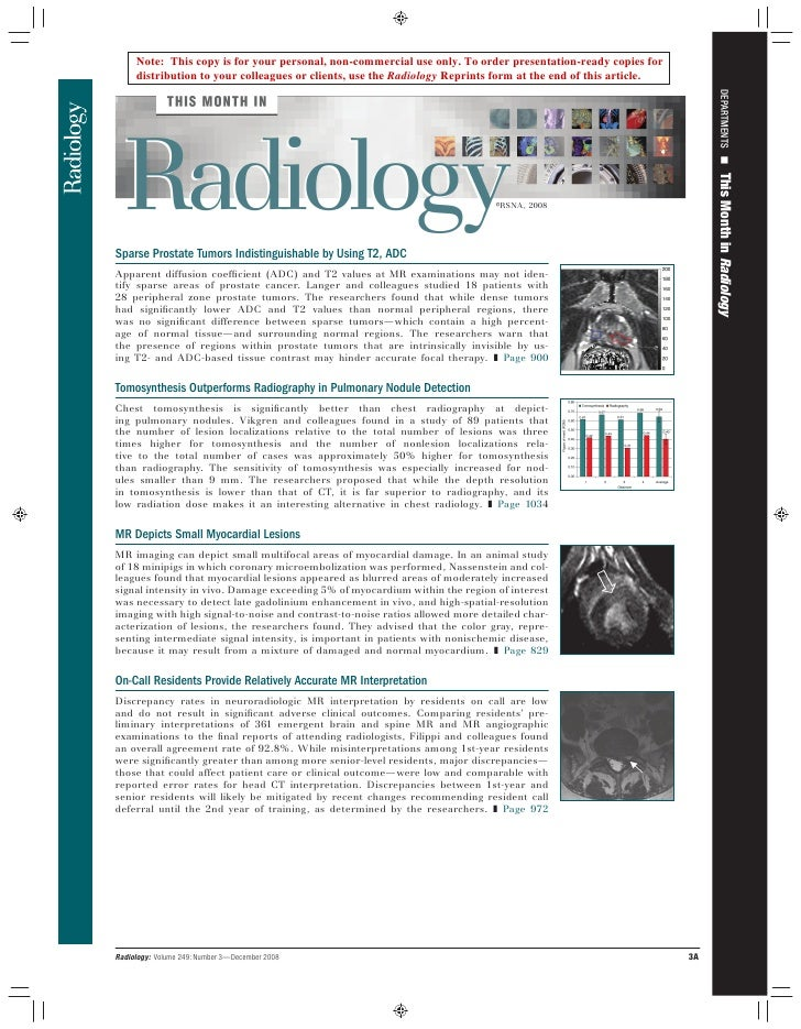 This Month In Radiology December